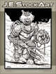 JEStockArt - Fantasy - Deep Sea Diver Golem With Trident Arm - IWB