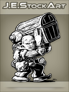 JEStockArt - Fantasy - Sweaty Goblin Hireling Carrying Massive Amounts Of Loot - INB