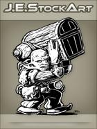 JEStockArt - Fantasy - Sweaty Goblin Hireling Carrying Massive Amounts Of Loot - INB