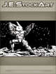 JEStockArt - SciFi - Combat Space Rabbit Firing Dual Weapons - IWB