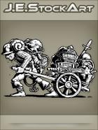 JEStockArt - Fantasy - Sweaty Hired Minion Hauling Adventurering Gear - INB