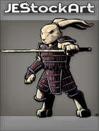 JEStockArt - Fantasy - Mutant Rabbit With Sword In Samurai Armor - CNB