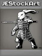 JEStockArt - Fantasy - Mutant Rabbit With Sword In Samurai Armor - INB