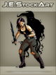JEStockArt - Supernatural - Shadow Warrior Woman With Dark Blade - CNB