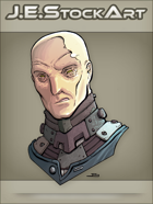 JEStockArt - SciFi - Albino Alien Overlord With Metal Neck - CNB