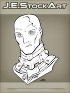 JEStockArt - SciFi - Albino Alien Overlord With Metal Neck - LNB
