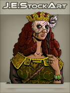 JEStockArt - Fantasy - Noble Woman With Creepy Mask - CNB