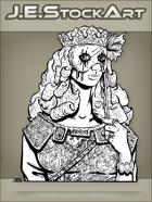 JEStockArt - Fantasy - Noble Woman With Creepy Mask - LNB