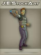 JEStockArt - SciFi - Near Future Detective with Tazer - CNB