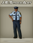 JEStockArt - Modern - African American Police Officer With Hand On Hip - CNB