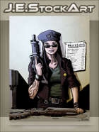 JEStockArt - Modern - Arms Dealer With Guns And Price List - CNB