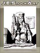 JEStockArt - Modern - Arms Dealer With Guns And Price List - INB