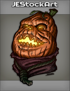 JEStockArt - Fantasy - Pumpkin Head Laughing With Noose Tie And Scarf - CNB