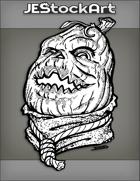 JEStockArt - Fantasy - Pumpkin Head Laughing With Noose Tie And Scarf - INB
