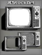 JEStockArt - Modern - Vintage Television With Knobs And Dials - INB