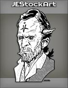 JEStockArt - Scifi - Alien Gentleman With Dark Eyes And Tall Forehead - INB