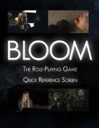Bloom Gamemaster Quick Reference Screen