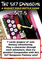5x7 Dungeon Fantasy set 5