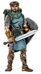 """Art stock"" Warrior character"