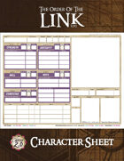 The Order Of The Link Character Sheet Edition 2.0