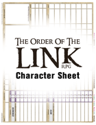 Order Of The Link Character Sheet