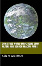 Quick free world maps using GIMP filters and Donjon fractal maps