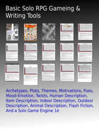 Basic Solo RPG Gaming & Writing Tools [BUNDLE]