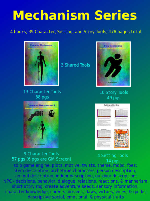 Mechanism Series: Characters, Story, Setting 4 book set [BUNDLE]