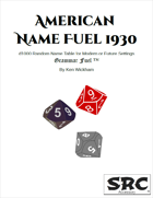 American Name Fuel 1930
