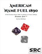 American Name Fuel 1890