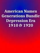 American Names Depression Era [BUNDLE]