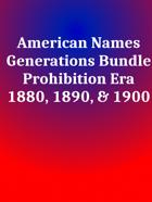 American Names Prohibition Era [BUNDLE]