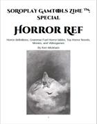 SoRoPlay GamTools Zine: Horror Ref
