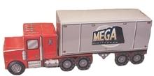 Semi-Truck 3D paper scenery