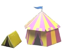 Tents 3D paper scenery SET 1  sc 1 st  DriveThruRPG & Tents 3D paper scenery SET 1 - Mega Miniatures | DUNGEON ...