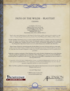 Path of the Wilds - Playtest