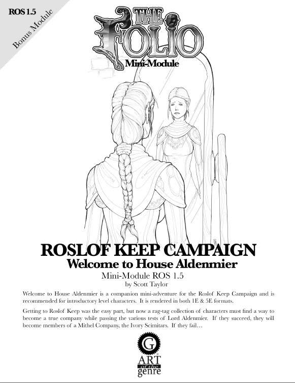 Cover of ROS1.5 Welcome to House Aldenmier