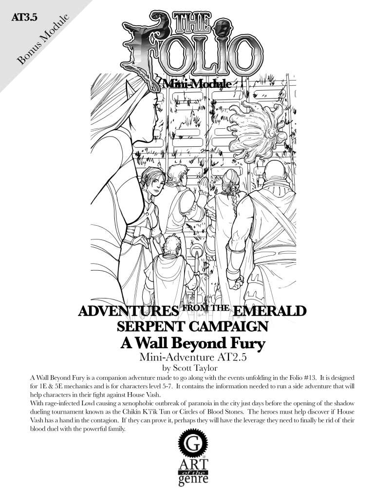 Cover of AT3.5 A Wall Beyond Fury