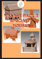 3D scenery - Specialty Houses