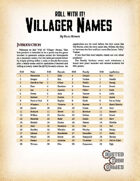 Roll With It! Villager Names