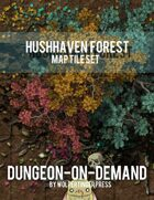 HushHaven Forest Dungeon-On-Demand Map Tile Set