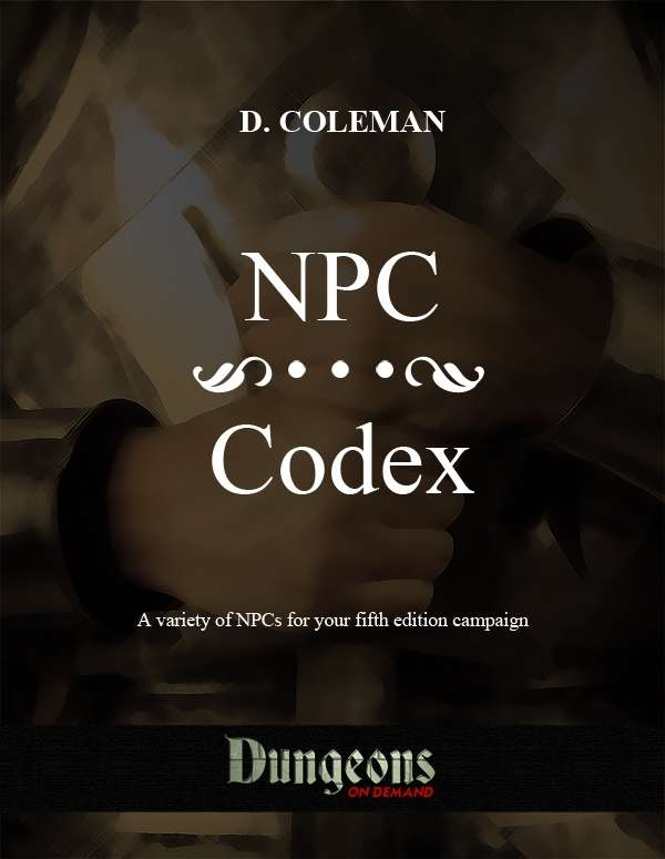 NPC Codex - Dan Coleman Productions | Supplements | DriveThruRPG com