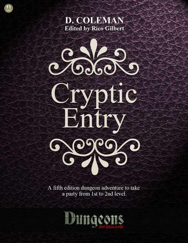 Cover of Cryptic Entry