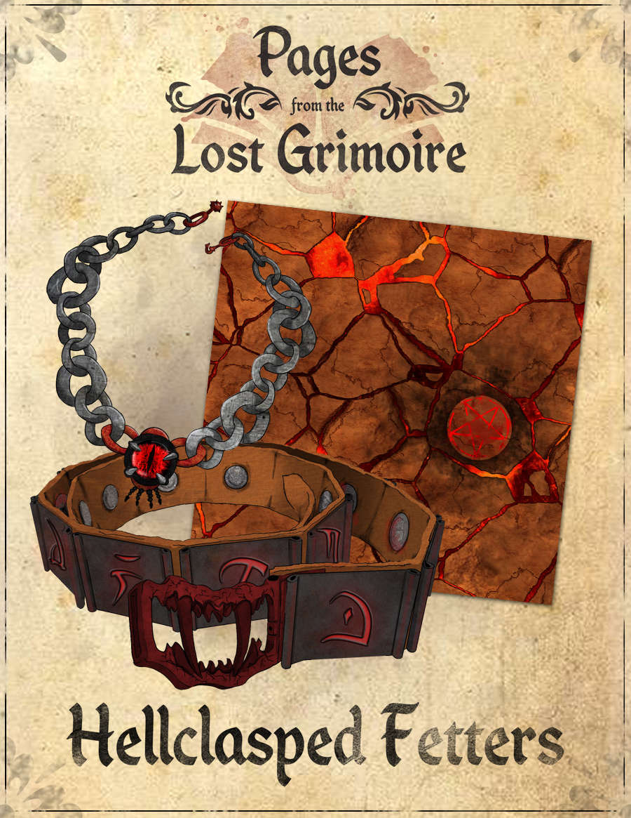 Pages from the Lost Grimoire - Hellclasped Fetters / Pyre of Corruption -  Dan Coleman Productions | Supplements | Pages from the Lost Grimoire |