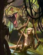Cover full page - The Lost World - RPG Stock Art