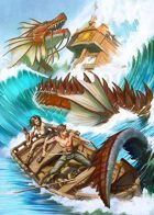 Cover full page - Sea Dragon - RPG Stock Art
