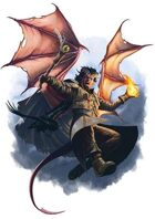 Character - Tiefling Wizard - RPG Stock Art
