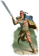 Character - Aztec Barbarian - RPG Stock Art