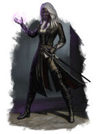 Character - Drow Warlock - RPG Stock Art