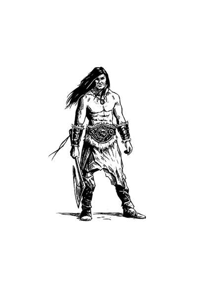 Filler spot - barbarian - RPG Stock Art